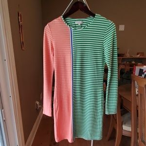 Long-sleeved striped dress
